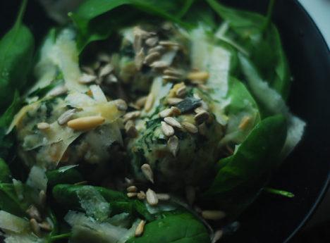 špenátové knedlíky